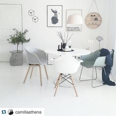 Perfect ambiance #gambitlamp #muuto #fiberchair #eamesarmchair #aboutachair #vitra #haydesign #kubus4 #bylassen #flowerpot #andtradition