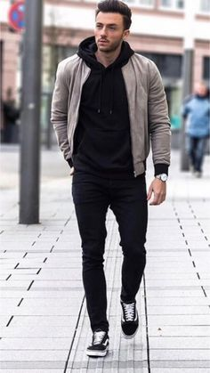 Awesome 37 Best Mens Fashion Styles Men Looks Cool Outfits Hombre Casual, Layering Outfits, Casual Outfit For Men, Casual Man, Mens Style Guide, Men Style Tips, Men Casual Styles, Denim Jacket Men, Bomber Jacket Men Outfit