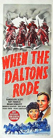 universal western movie posters | When the Daltons Rode 1940 poster.jpg