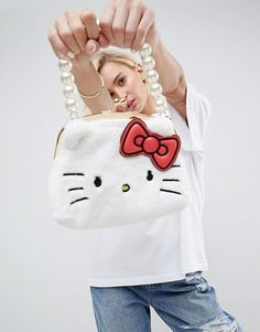 Hello Kitty X ASOS Faux Fur Crossbody Bag | ASOS Asos, Hello Kitty Bag, Online Bags, Sanrio, Fashion Bags, Faux Fur, Latest Trends, Crossbody Bag, Hoodies
