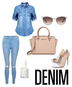 Untitled #7 by maariyah347 on Polyvore featuring polyvore, fashion, style, New Look, Gianvito Rossi, Michael Kors, Gucci, Essie, clothing and Denimondenim