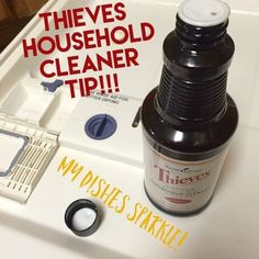 green dish washing hacks from Anointed By Abba using Young Living Thieves dish liquid, powder & Household cleaner along with everyday old school natural products. Young Living Thieves, Young Living Oils, Young Living Essential Oils, Young Living Detox, Thieves Household Cleaner, Thieves Cleaner, Dishwasher Cleaner, Dishwasher Detergent, Essential Oils Cleaning