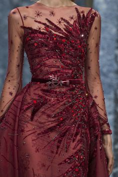 Ziad Nakad at Couture Fall 2017 - Livingly Look Fashion, Fashion Details, Runway Fashion, High Fashion, Evening Dresses, Prom Dresses, Formal Dresses, Jw Moda, Couture Dresses