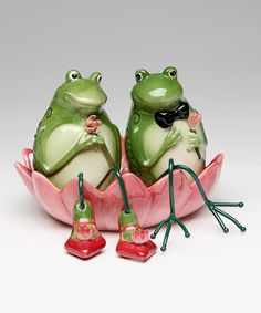 Frogs Three-Piece Salt & Pepper Shakers Set #zulilyfinds