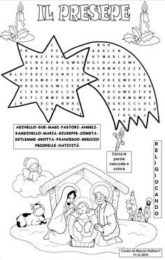 IL PRESEPE Christmas Math Worksheets, Christmas Activities For Kids, Christmas Games, Kids Christmas, Church Crafts, Christmas Embroidery, Xmas Gifts, Holidays And Events, Teaching Kids