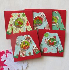 Christmas in July sale! All holiday cards and gift tags are 50% off and SHIP FREE this week!  Handmade Christmas Gift Tag Set by HotWheelsandGlueGuns