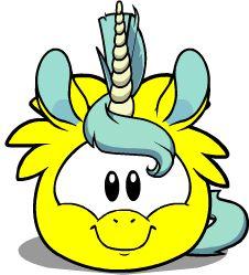 Wild Club Penguin Puffle   puffle-unicornio-amarillo.png