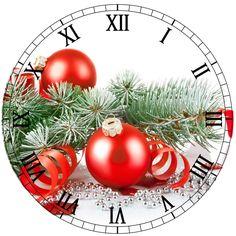 Christmas clock face printable