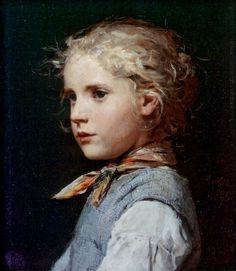 """Albert Samuel Anker - """"Portrait of a Girl"""""""