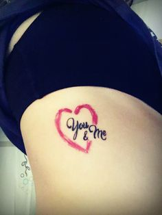You & me... Great for couple tattoo