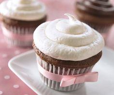 Cupcakes con betún de Chocolate Blanco
