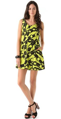 Piamita Cassia Chain Print Tank Dress