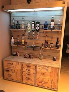 wooden pallet bar plan