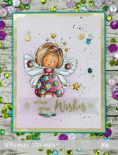 """""""Mazarine Butterfly Fairy"""" illustrated by Marina Fedotova for Whimsy Stamps. Deeply etched rubber mounted on cling cushion foam, untrimmed. Birthday Cards For Boys, Boy Birthday, Butterfly Fairy, Whimsy Stamps, Inspiration For Kids, Digital Stamps, Paper Design, Designer, Card Making"""