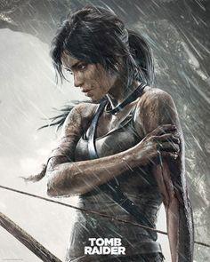 Poster affiche Lara Croft Blessure