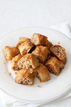 Walnut baklava rolls