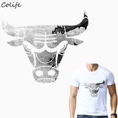 Cheap designer patches, Buy Quality patch design directly from China clothes stickers Suppliers: Clothes Stickers Silver Bulls Print On T-Shirt Clothes Decoration New Design Washable DIY Accessory Patches 22x19cm