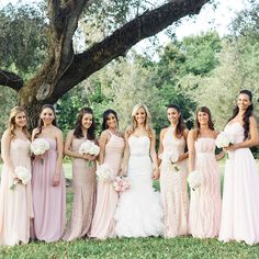 The Bridesmaids - Couple Weds in Charming Florida Garden - Southern Living