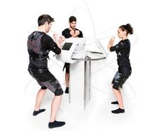 Futuristic XBody Newave with special body suit for full body training