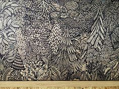 forest woodblock print