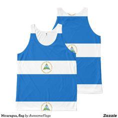Nicaragua, flag All-Over print tank top