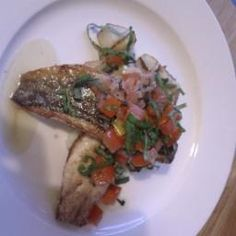 Sea Bass with Sauce Vierge