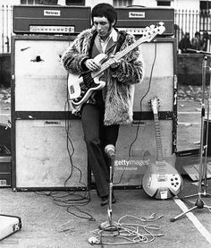 of The Who, John Entwistle performing for US TV show, playing Fender Precision Bass guitar with Marshall amplifiers behind Credit: Chris Morphet Rock N Roll, Blue Soul, Fender Bass Guitar, Telecaster Bass, Fender Precision Bass, John Entwistle, Rock Legends, Blues Rock, Music Guitar