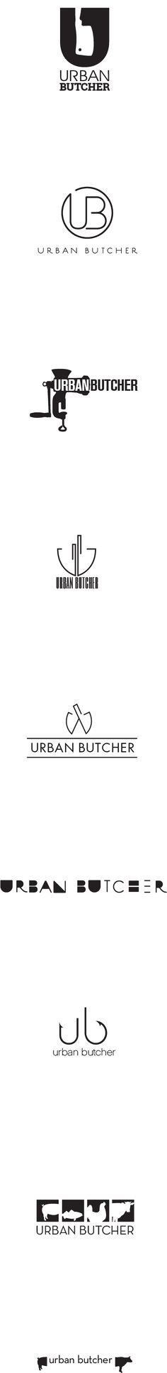 Urban Butcher logos on Behance