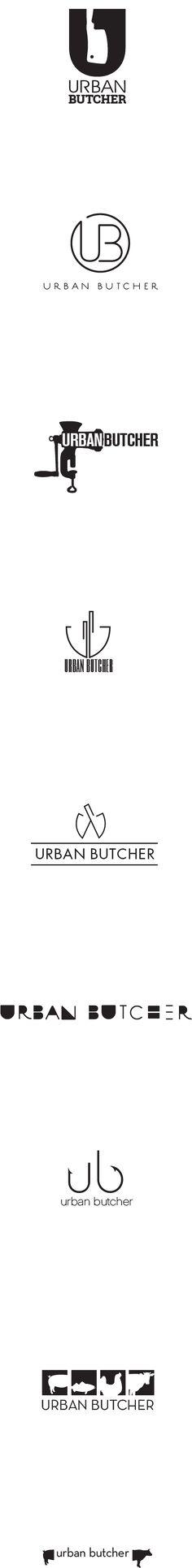 Urban Butcher logos on Behance