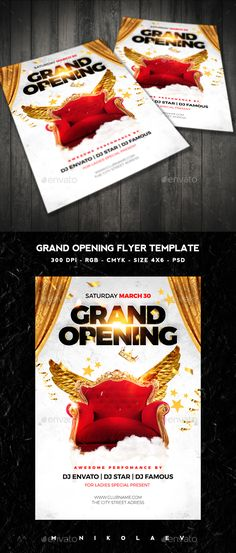 Grand Opening Flyer For Omg Party Store | Graphic Design