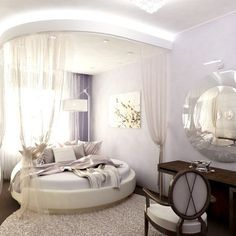 27+ Round Beds Design Ideas to Spice Up Your Bedroom | Pinterest ...