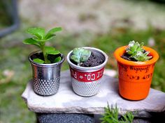 Perfect planters for a fairy garden :)