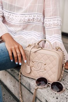 fee113e4cff2 How adorable is this Pink Chanel Case