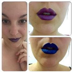 Electric blue and lilac purple lips