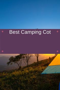 The best way to improve your camping tent sleeping is to sleep on a cot. See what our favorites are. Camping Cot, Camping Gear, Camping Essentials, Improve Yourself, This Is Us, Sleep, Vacation, Activities, Outdoor
