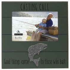 4X6 Casting Call Green Picture Frame