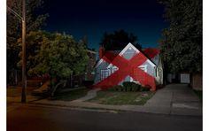 Suburban Interventions by Ian Strange (Kid Zoom), Street art on suburban homes, cool art interventions in suburbia House Of Leaves, Akatsuki, New Hampshire, Randy Cunningham, Suburban House, Night Vale, Wu Tang Clan, Design Blog, No Photoshop