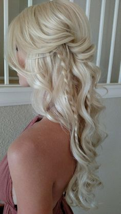 trendy wedding hairstyles for long hair blonde highlights Beach Wedding Makeup, Hairdo Wedding, Wedding Hairstyles For Long Hair, Wedding Hair And Makeup, Bride Hairstyles, Summer Hairstyles, Bridal Hair, Cool Hairstyles, Wedding Hair Blonde