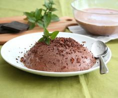 Mint chocolate panna cotta  (low carb)