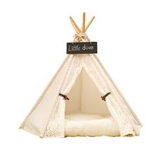 white color   Pet tent / Pet bed / Dog bed / Cat bed / Teepee tent / Pet play house  for hot selling with mat