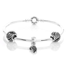 Pandora Majestic Feathers Complete Bangle Cheap Sale