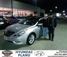#HappyAnniversary to Susan Leininger on your 2013 #Hyundai #Sonata from Frank White at Huffines Hyundai Plano!
