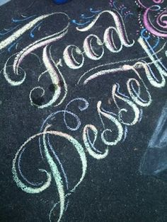 Chalk lettering at Family Reunion!