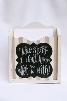 Stuff Storage Chalkboard box - need this!!, $42