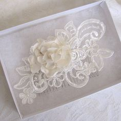 Hey, I found this really awesome Etsy listing at https://www.etsy.com/listing/155140303/bridal-lace-with-fabric-flower-hair-comb