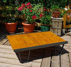 Table sncf2b SNCF Palett Table in wood furniture diy  with Table Pallets