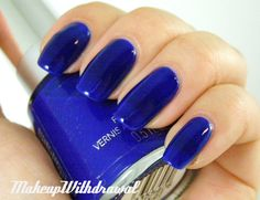 Royal blue: dark blue with a tiny bit of purple hues, but I wouldn't do my nails that color