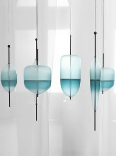Murano glass pendant lamp FLOW T by GALLERY S.BENSIMON | #design Nao Tamura