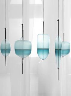 Murano glass pendant lamp FLOW T by GALLERY S.BENSIMON | #design Nao Tamura