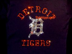 Detroit Tigers Players | detroit tigers thinestone shirts